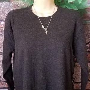 !00% Extra Fine Merino Wool Long Sleeve Sweater